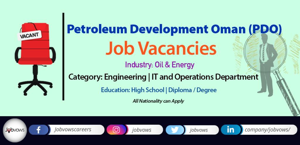 Petroleum Development Oman (PDO) Jobs 2020