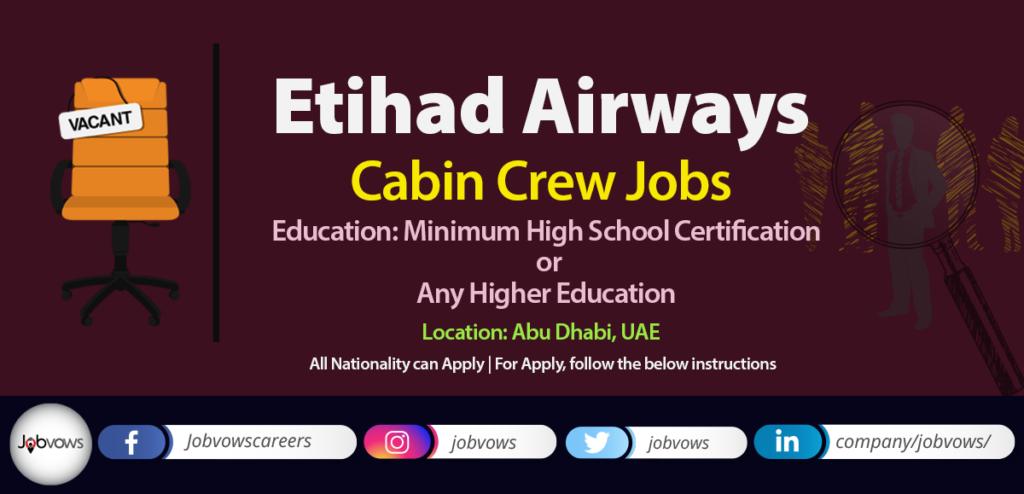 Etihad Airways Cabin Crew Jobs 2020