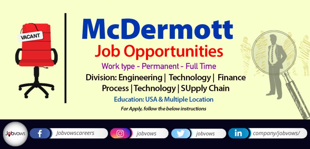 McDermott Jobs and Careers 2020