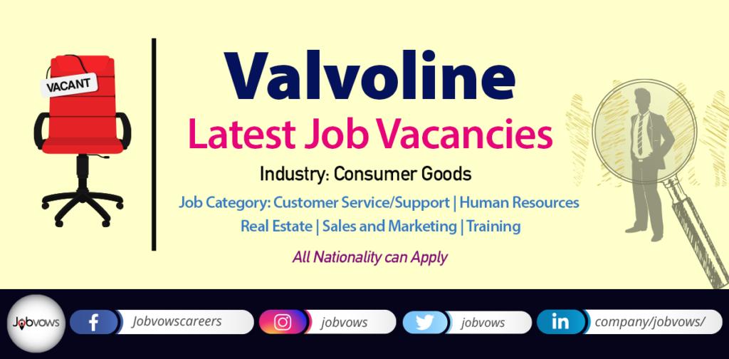 Valvoline Jobs and careers 2020