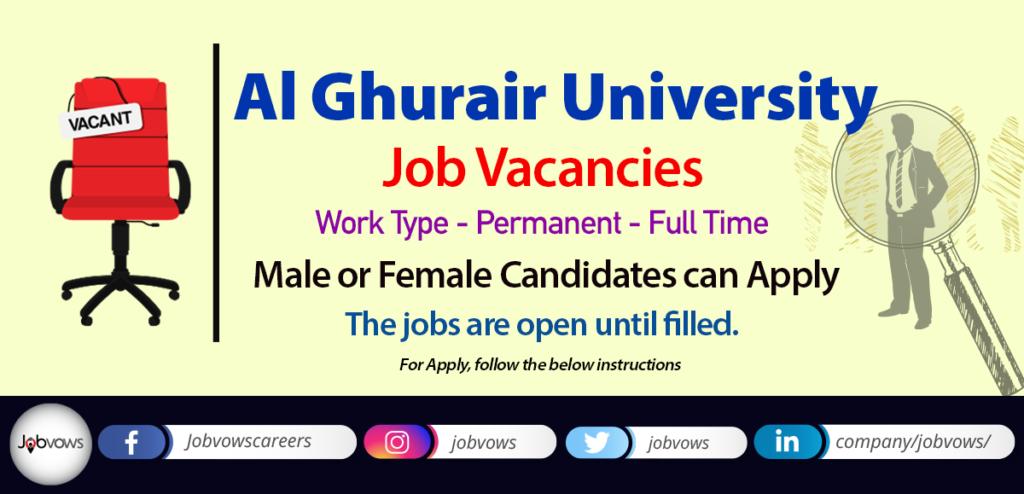 Al Ghurair University Jobs and Careers Dubai