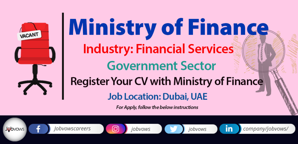 Ministry of Finance UAE jobs and careers