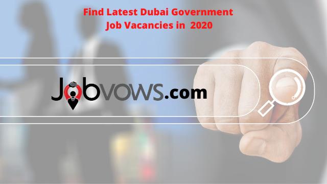 Dubai Government Job vacancies