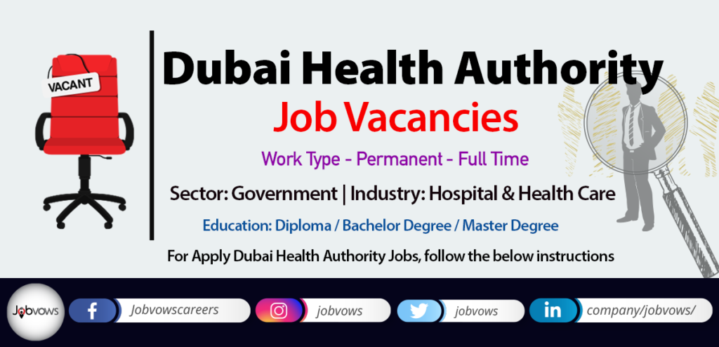 Dubai Health Authority Jobs and careers 2020