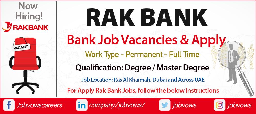 Rak Bank Careers and Jobs