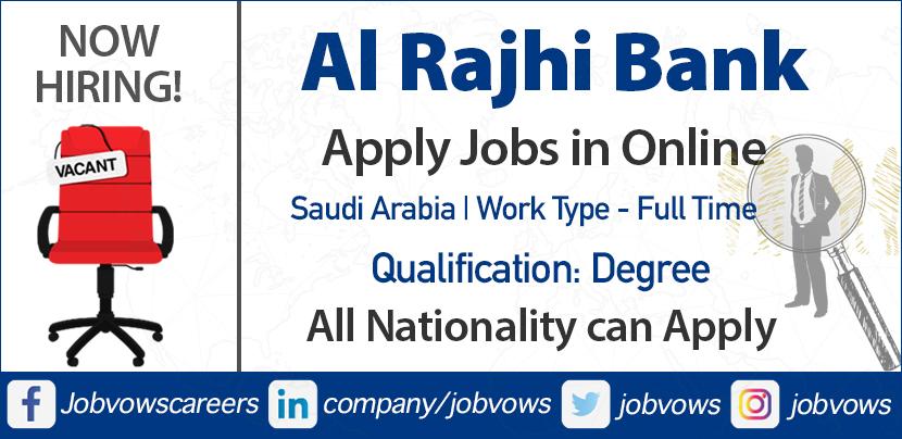 Al Rajhi Bank careers and jobs