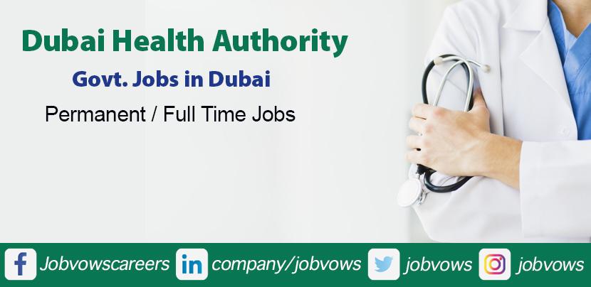 Dubai Health Authority Careers and Jobs